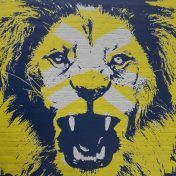 Poster der Rhein-Neckar Löwen mit Löwenkopf