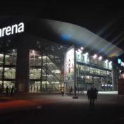 SAP Arena bei Nacht